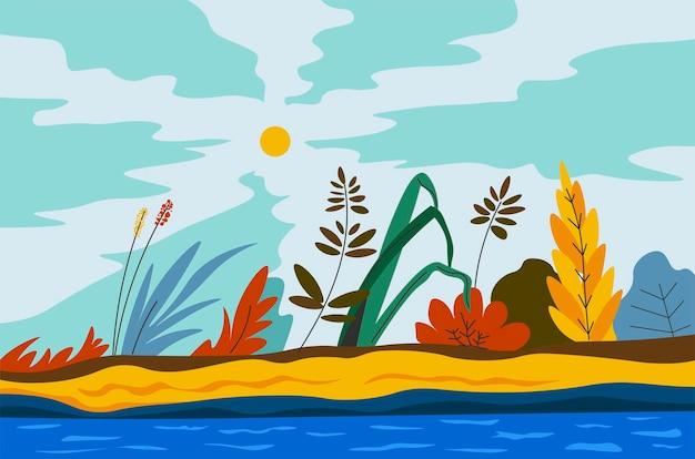 단풍이 피는 가을 또는 봄 풍경