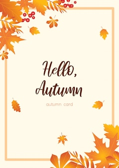 Autumn orange card