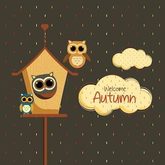 Autumn owl house