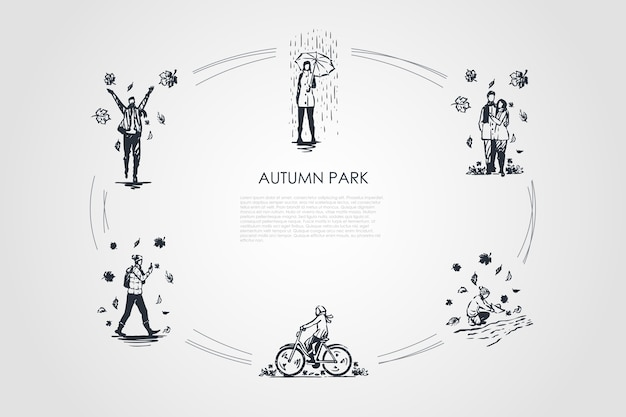 Autumn park illustration