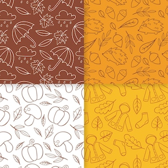 Autumn pattern collection draw