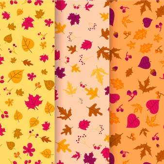 Autumn pattern collection drawing