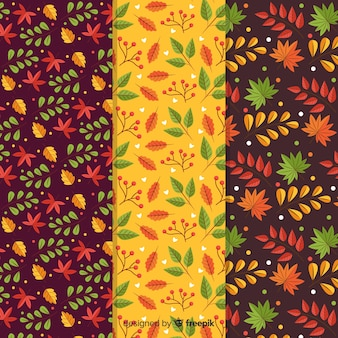Autumn pattern collection flat design