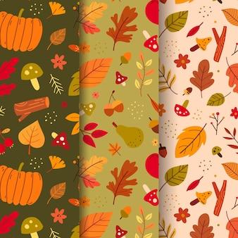 가을 패턴 컬렉션