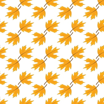 Autumn pattern on a white background