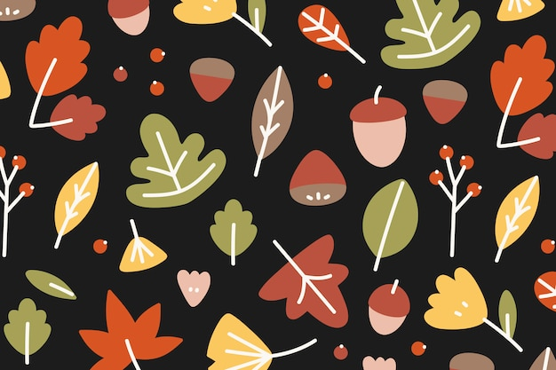 Autumn patterned background