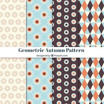 Осенние узоры с геометрическим стилем
