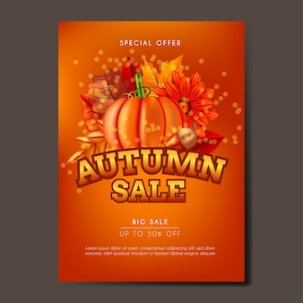 Autumn poster, flyer or banner background