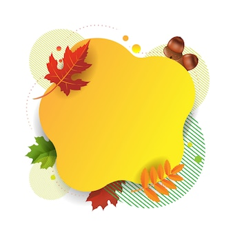 Autumn poster with autumn leaves