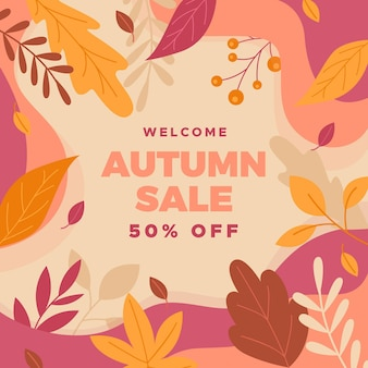 Autumn promotional sale concept