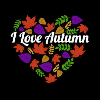 Autumn Quote and Saying, I love autumn