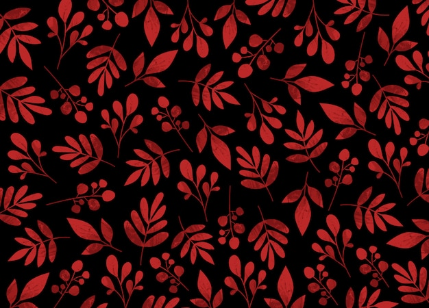 Autumn red leaves pattern background