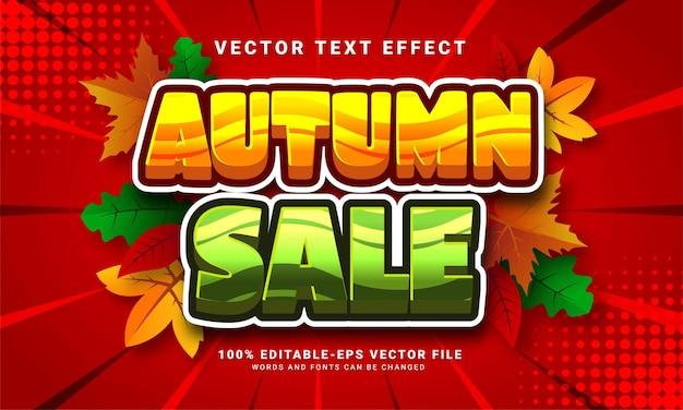 Autumn sale 3d editable text effect suitable for promotion sales with autumn themed events