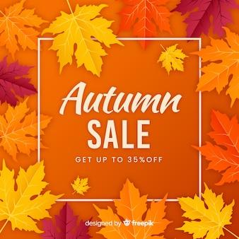Autumn sale background flat style