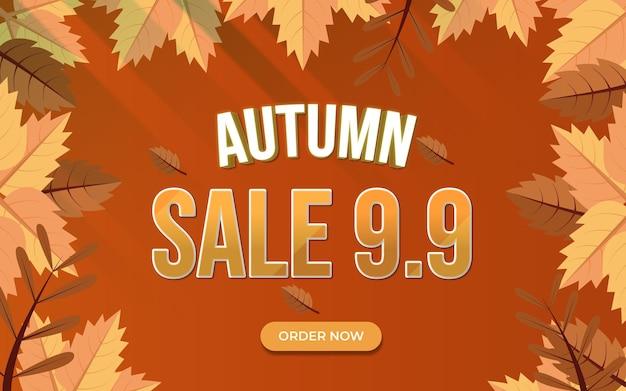 Autumn sale background modern version 2