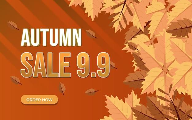Autumn sale background modern
