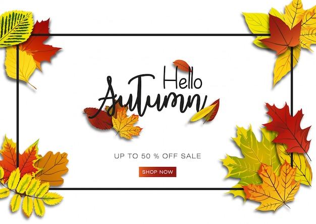 Autumn sale background promotion