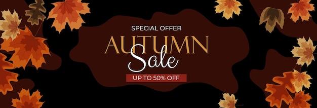 Осенняя распродажа фон с падающими листьями. может быть использован как сюжетный пост в социальной сети. векторная иллюстрация eps10