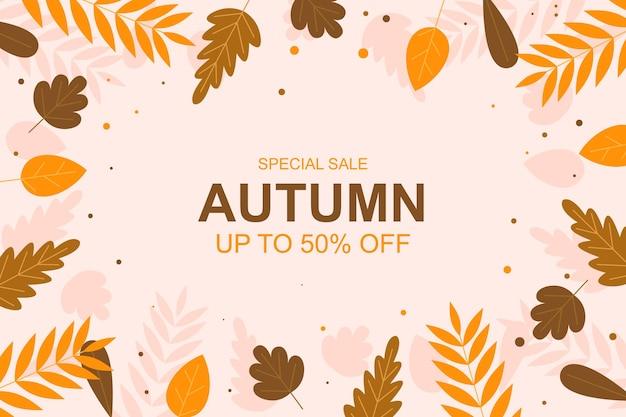 Осенняя распродажа баннер фон с листьями векторные иллюстрации