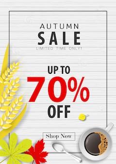 Autumn sale banner background