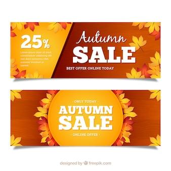 Autumn sale banner design