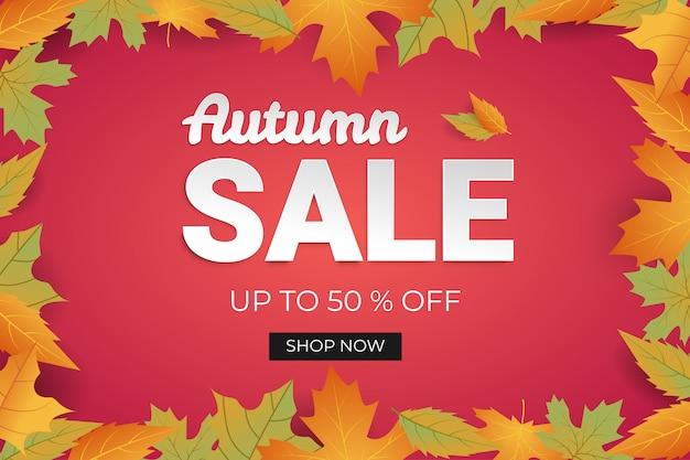 Autumn sale banner discount