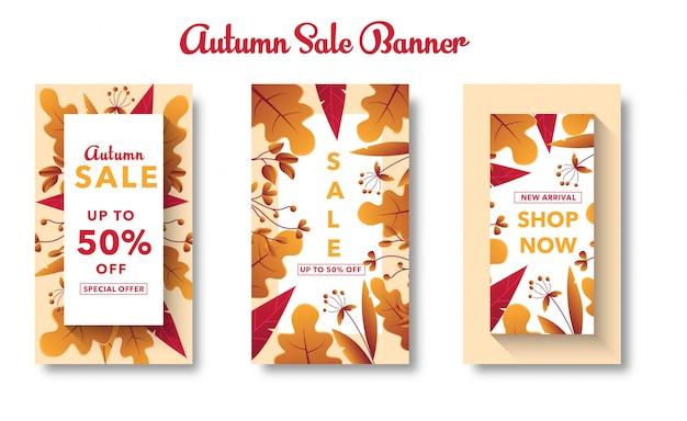Autumn sale banner set