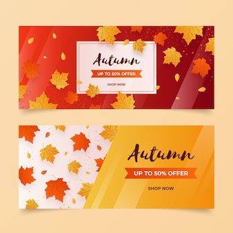 Autumn sale banners template