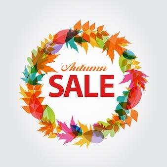Осенняя распродажа концепции векторные иллюстрации eps10