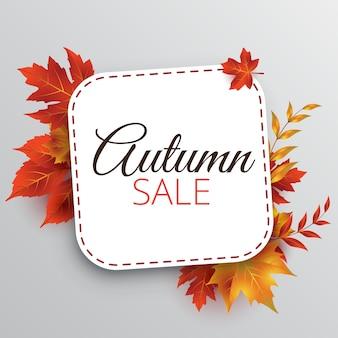 Autumn sale design template/background