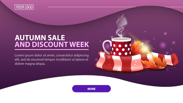 Autumn sale and discount week banner