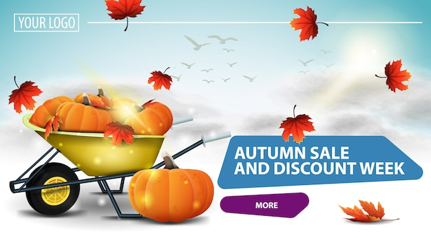 Autumn sale and discount week,