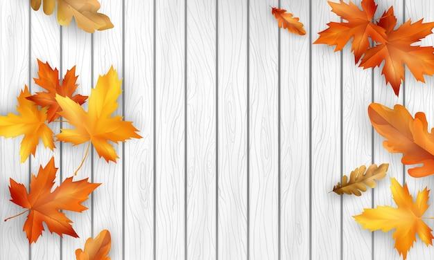 Осенняя распродажа падающие листья фон природа