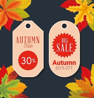 Autumn sale tags design