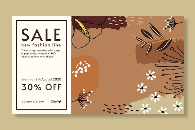 Autumn sale template banner