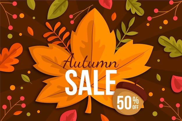 Autumn sale template design