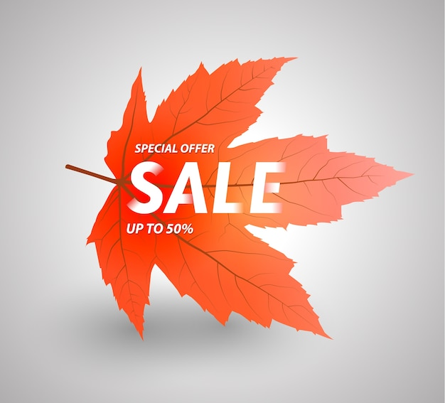 Autumn sale up to 50 percent.
