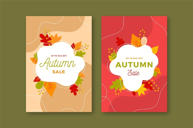 Autumn sale vertical banners