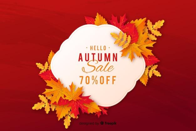 Autumn sales background flat style