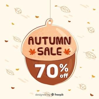 Autumn sales background hand drawn style