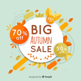 Autumn sales background with leaves