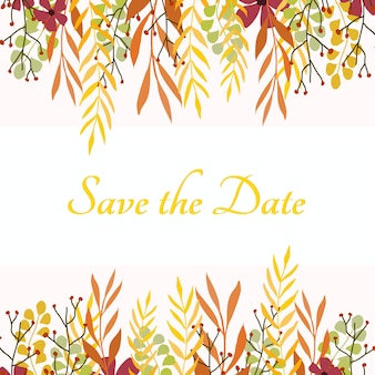 Autumn save the date card.