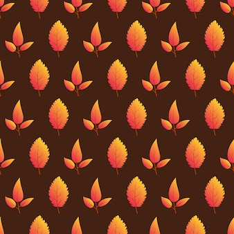 Autumn seamless background with colorful leaves. design for fall season posters, wrapping papers and holidays decorations. vector illustration