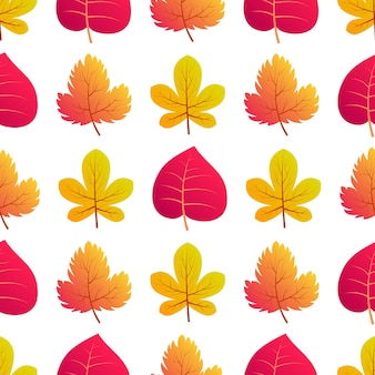 Autumn seamless background with maple colorful leaves. design for fall season posters, wrapping papers and holidays decorations. vector illustration