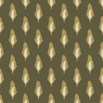 Autumn seamless botanic pattern with forest leafs in brown tones. dark hand drawn floral backdrop. perfect for wallpaper, wrapping paper, textile print, fabric.  illustration.