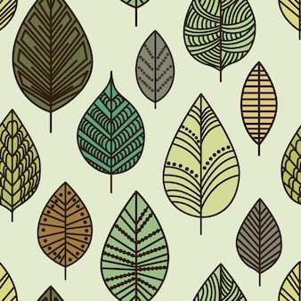 秋のシームレスな葉のパターン