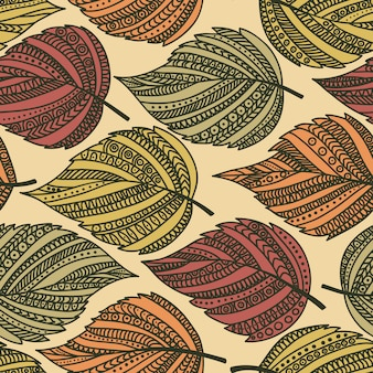 Autumn seamless leaf pattern