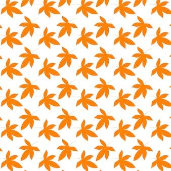 가 원활한 오렌지 아니 스 별 패턴 흰색 바탕에 가 벡터 벽지