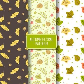 Autumn seamless pattern collection