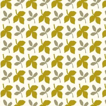 Осенний бесшовный фон дизайн осенний сезон фон осенние листья элементы